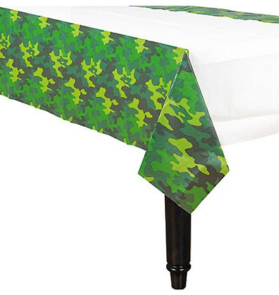 Adventurous Camouflage Paper Tablecover Birthday Party Disposable Tableware and Dishware Supplies, 13 8