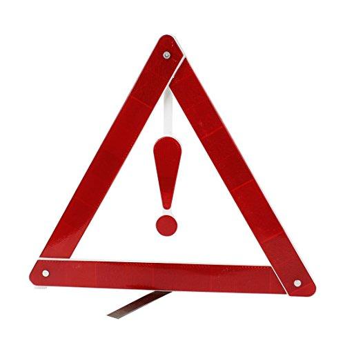 Rot Weiß Plastik Verkehr Hazard Warnzeichen Dreieck Reflecting