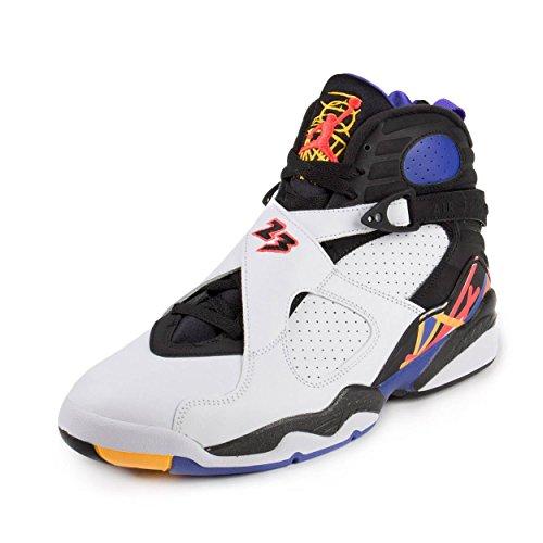 e823128a6bdf Galleon - Nike Jordan Mens Air Jordan 8 Retro White Infrrd 23 Blk Brght  Cncr Basketball Shoe 10 Men US
