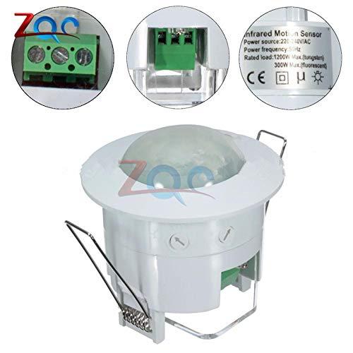 OTADO 110V 220V Ceiling PIR Infrared Body Motion Sensor Detector Lamp Light Switch lampholder For LED lamp Bulb Automatic ON/OFF (Switch Body Reed)