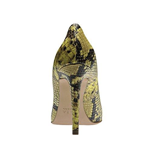 vestir mujer Zapatos amarillo de Shoes Evita de Amarillo para Piel nRSBxCfwq