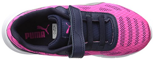 Pictures of PUMA Meteor V Kids Sneaker Pink/Puma Silver M 2