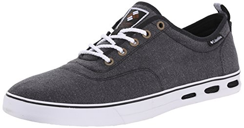 Columbia Men's Vulc N Vent Lace Lifestyle Casual Shoe,Black/White,8.5 D US