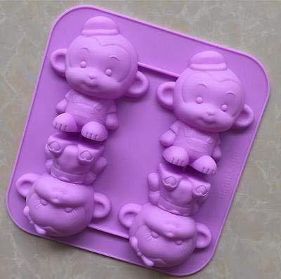 FidgetFidget AKE Mold Soap Mold Silicone Mould 3D Monkey C for Ice Lattice ice Cube Cookie