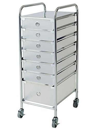 Rolling Storage Cart Removable Drawer Salon Spa Stylist Station Trolley Stand Generic GO-1867