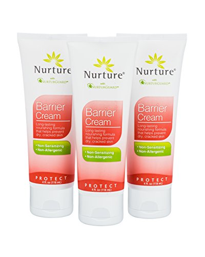 Barrier Cream by Nurture (3-pack) | Powerful Dimethicone Skin Protectant Formula Designed To Prevent And Moisturize Dry, Cracked Skin - 4 Oz Each