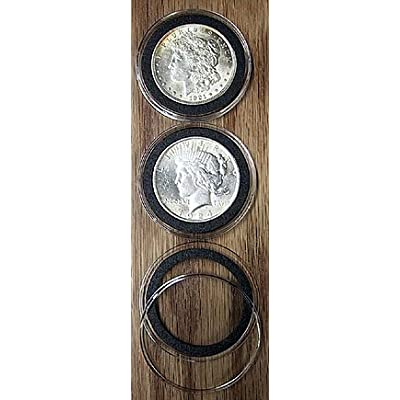 10 Black Ring Type 38mm Air Tite Coin Holders for Silver Dollars: Toys & Games