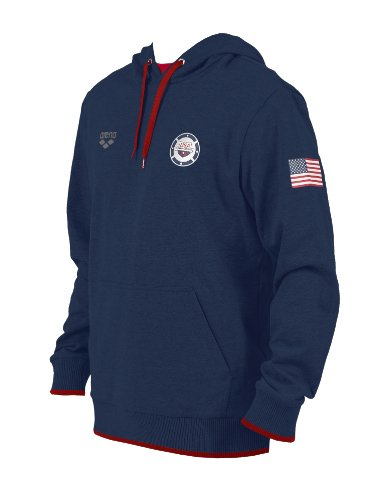 Arena Usa Swimming Hooded Sweat, Navy, X-Large