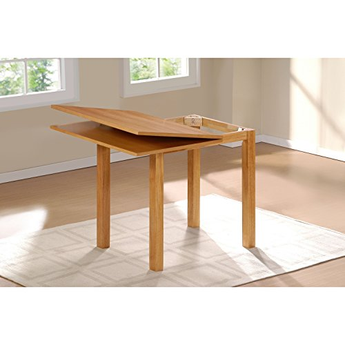Cheap Contemporary, Country Colorado Natural Finish Folding Table (0635031). Natural Look That Will Complement A Host Of Decorative Styles. Wood Dining Table. Assembly Required