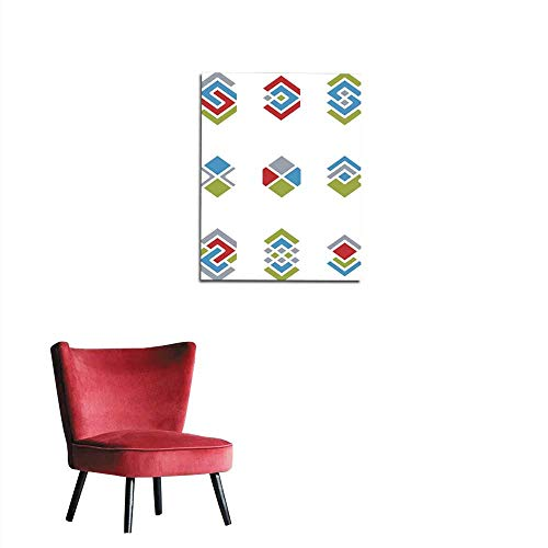 - longbuyer Wallpaper Abstract Unusual Vector Symbols Set Stylish icon templates Mural 16