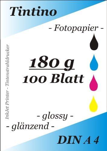 Tintino – Papel fotográfico A4 para impresora de inyección de ...
