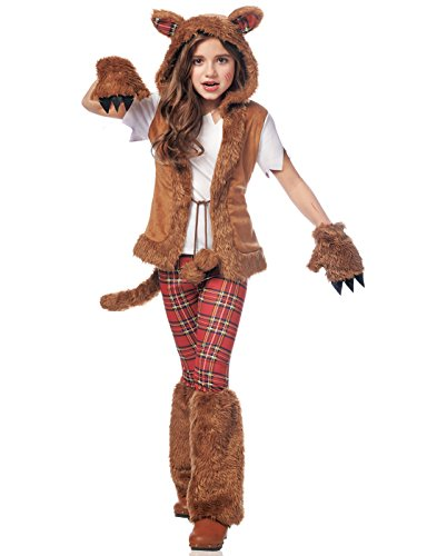 Werewolf Costumes Women (Costume Culture Women's Howl-O-Ween Girl's Costume, Brown, Large)