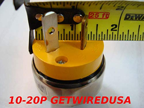 10-20P 3-PiN Male Plug To 10-30R Dryer 3-Prong Female Cable Socket Outlet Receptacle Converter, Electric Cord Adapter NEMA 220/250V input 220/250V Output FX897 by getwiredusa (Image #1)