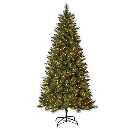 Holiday Living 7.5-ft Pre-lit Lawndale Slim Artificial Christmas Tree with  500 Constant - Amazon.com: Holiday Living 7.5-ft Pre-lit Lawndale Slim Artificial