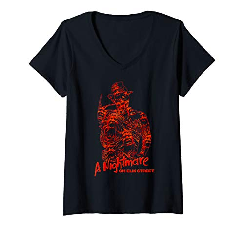 Womens Nightmare on Elm Street Freddy Chest of Souls V-Neck T-Shirt]()