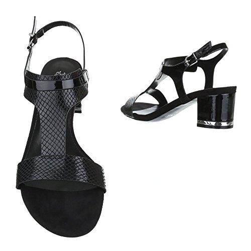 Ital-Design - Sandalias de vestir de Material Sintético para mujer negro