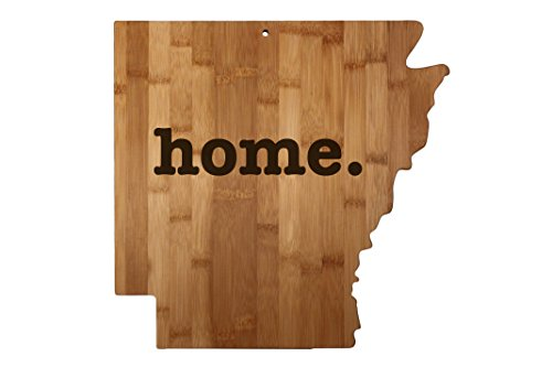 Arkansas State Shaped Bamboo Wood Cutting Board Engraved home. Personalized For New Family Home Housewarming Wedding Moving Gift