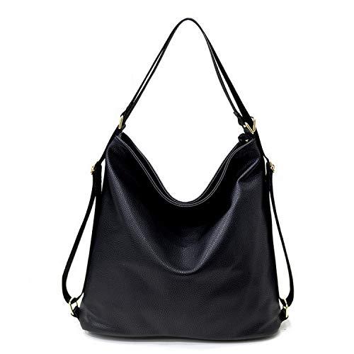 (Multi function handbags Luxury Shoulder Bags Hobos Designer Bags For Women,Black)