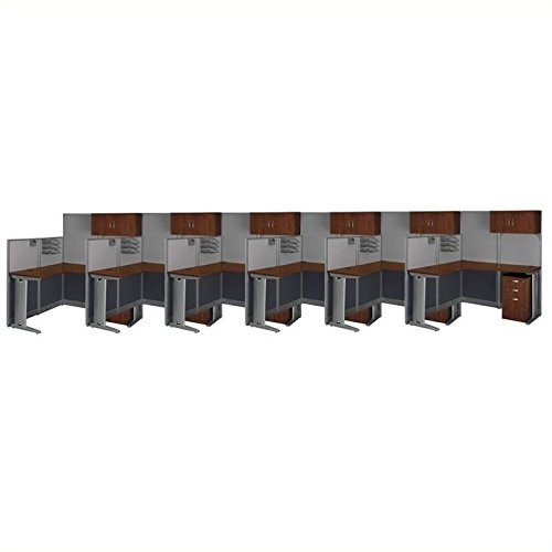 Bush Business Office-in-an-Hour Hansen Cherry Cubicles for ()