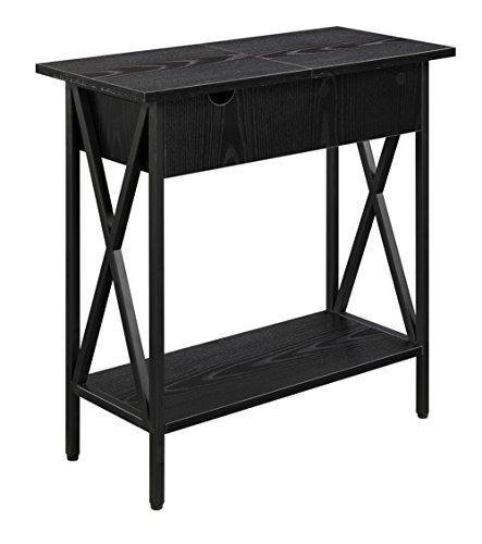 Convenience Concepts Tucson Electric Flip Top Table, Black by Convenience Concepts (Image #3)'