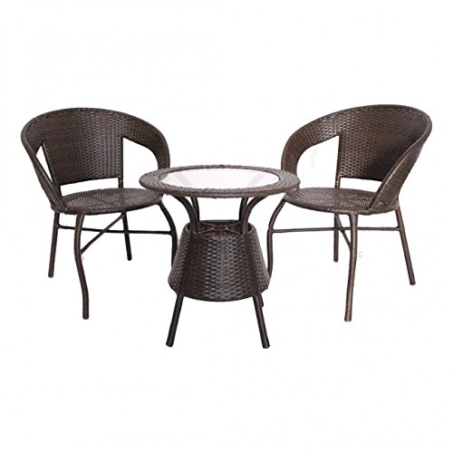 Remarkable Global Corporation D12 Set 2 Chair And 1 Table With Glass Pabps2019 Chair Design Images Pabps2019Com