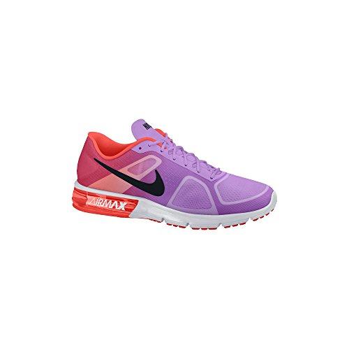 Nike Air Max Donne Sequent Scarpa Da Corsa Fucsia Bagliore / Arancio / Viola / Nero Formato 8 M Noi