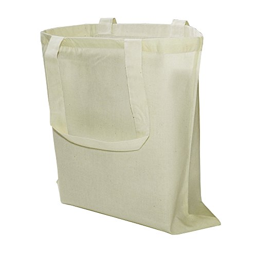 (Pack of 100 Eco Friendly Natural Cotton Canvas Tote Bag 15