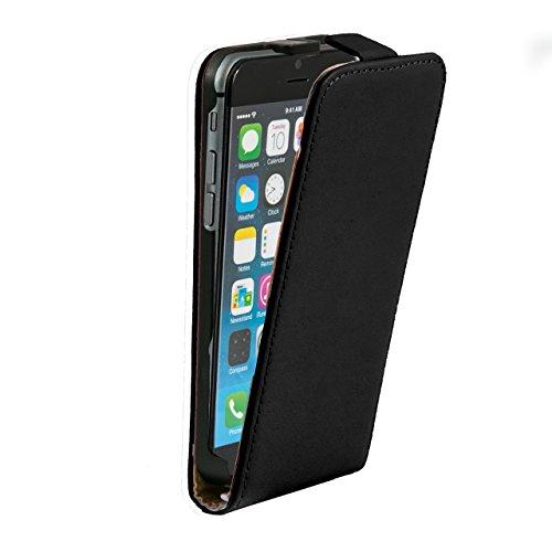 """iProtect housse Flip Case cuir synthétiquee pochette de protection pour Apple iPhone 6 (4,7"""") en noir"""