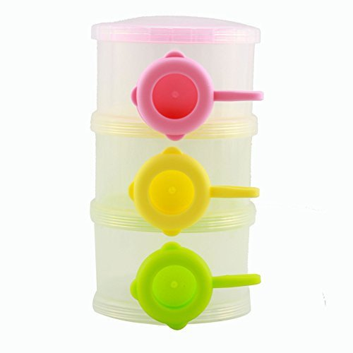 【感謝価格】 Babykings Three Cup Container Layer No-Spill Baby Three Powder Formula Dispenser and Snack Cup Portable Travel Container Bottle Storage colorful by BABYKINGS B01D3BG25E, RUBBERSOUL:8c5654aa --- a0267596.xsph.ru
