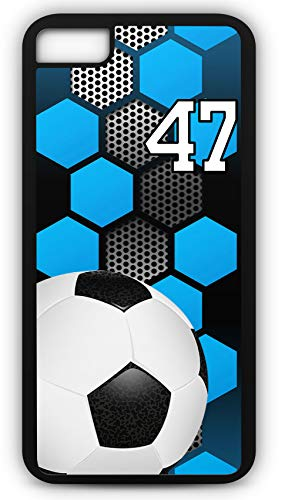 iPhone 7 Phone Case Soccer SC031Z by TYD Designs in Black Rubber Choose Your Own Or Player Jersey Number 47