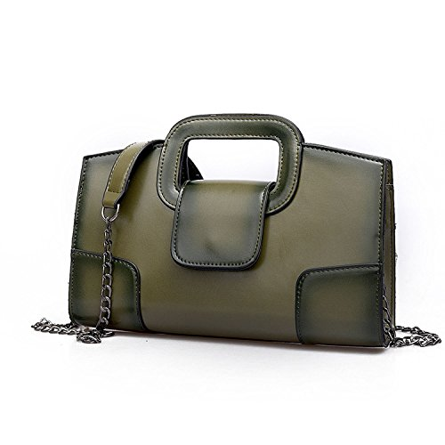 Sanxiner Leather Evening Handbags/Clutches Bags Crossbody Purse for Women (Green) by Sanxiner