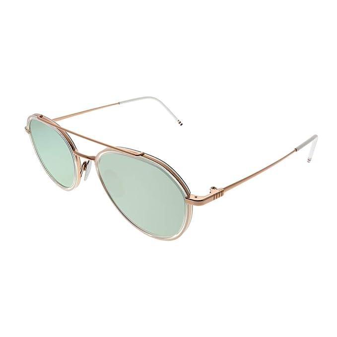 Amazon.com: Thom Browne TB-801 G-RGD-CLR-51 - Gafas de sol ...