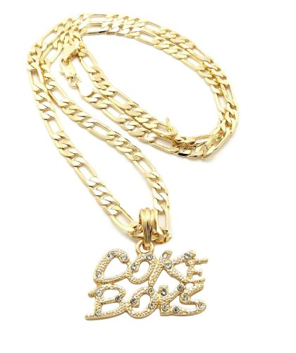 New Iced Out COKE BOYS Hip Hop Pendant &5mm/24