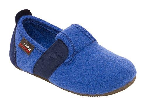 Living Kitzbühel Jungen T-Modell Unifarben Flache Hausschuhe Blau (558 victoria blue)