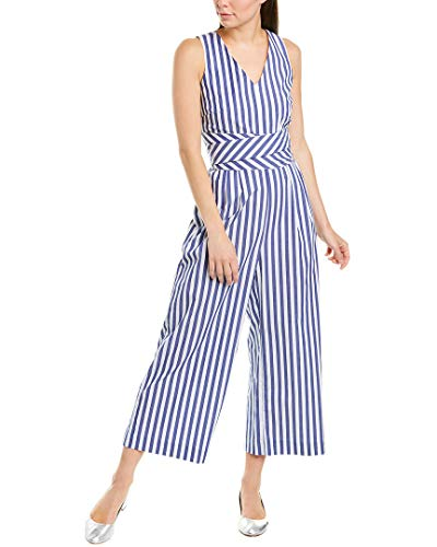 J.Crew Women's Dark Matter Jumpsuit Striped Stretch Poplin Lighthouse -