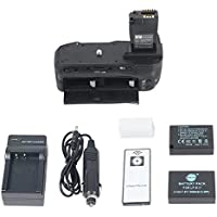 DSTE Pro IR Remote BG-E18 Vertical Battery Grip + 2x LP-E17 Battery + Travel & Car Charger For Canon EOS 750D 760D Rebel T6i T6s 8000D Kiss X8i Digital Cameras