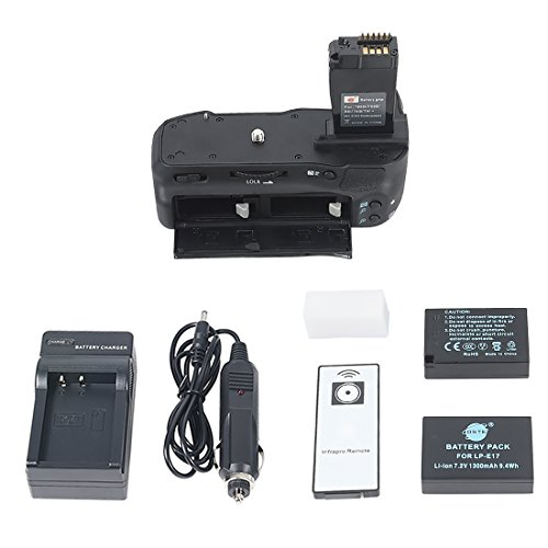 DSTE Pro IR Remote BG-E18 Vertical Battery Grip + 2x LP-E17