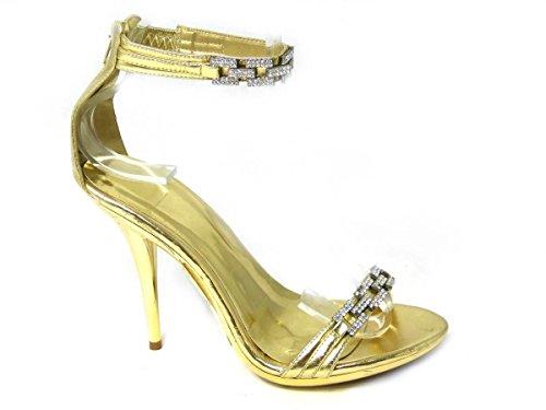 Caviglia Alla Strap Donna Ragazza' 21393 Da Sko's Gold Ov1wpw