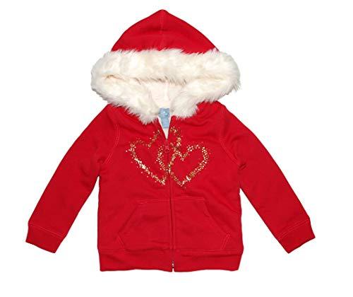 - GAP Baby Girls Cozy Faux Furr Full Zip Fleece Hoodie Jacket (2T)