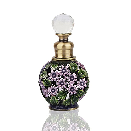YUFENG Fancy Retro Frosted Mini Restoring Glass Perfume Bottle Empty Refillable ()