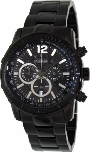 UPC 091661418655, Guess Men's W0046G1 Black Stainless-Steel Quartz Watch with Black Dial