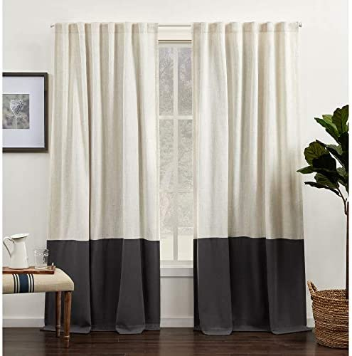 Exclusive Home Curtains Venice Color Block Light Filtering Hidden Tab Top Curtain Panels