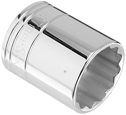 SK Hand Tool 40327 12 Point 27mm Standard Drive Socket, 1/2-Inch, Chrome