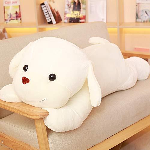 Creamy-Weiß 1 meter AYQX Plüschtier niedlichen Welpen Puppe Mädchen Schlafkissen Puppe niedlichen Hund große Puppe Raumdekoration Geburtstagsgeschenk Mädchen Beige Weiß 1 Meter