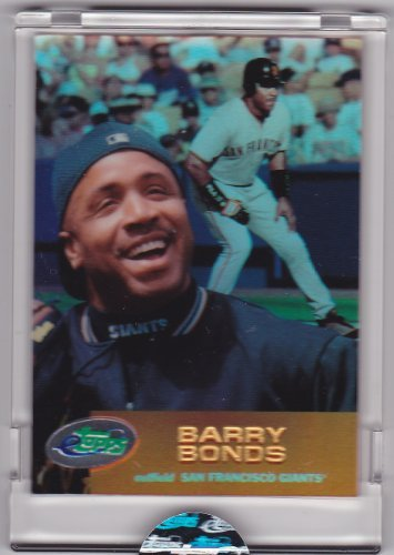Barry Bonds 2001 Etopps Baseball Card In Its Own Acrylic