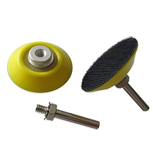 Maslin 2 Inch Sanding Backup Pad M6 Female Thread with 6mm Shank Sander Backing Pad Hook and Loop for Grinding & Polishing