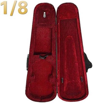 Estuche para violín rojo 1/8 1/4 1/2 3/4 tamaño profesional forma triangular violín carcasa rígida rojo interior violín piezas accesorios: Amazon.es: Instrumentos musicales