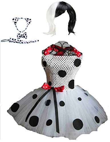 The DeVille Dalmation Costume Tutu Dress w/Accessories from Chunks of Charm (4T)]()