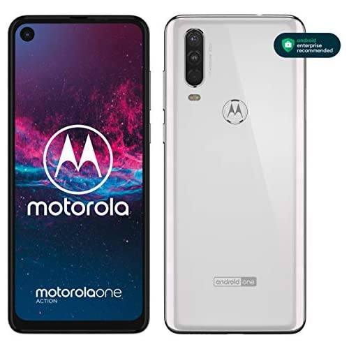 chollos oferta descuentos barato Motorola One Action Smartphone Dual SIM Triple cámara 12 MP 5 MP y video de 16 MP con ultra gran angular 128 GB 4 GB Pantalla 6 3 FHD Android 9 0 Color Blanco Versión Española