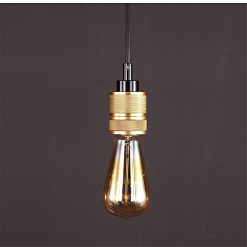 E27 Retro Industrial Edison Bulb 1 Head Small Pendant Light Cafe Bar Restaurant Metal Lampholder Indoor Decor Chandelier ,620cm - Metal Lampholder